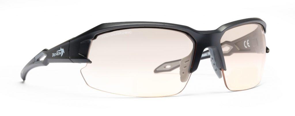Technical running and trail running sunglasses with photochromic lenses tiger model matt black grey