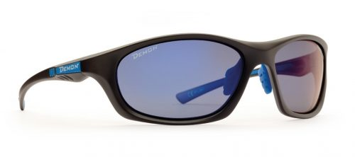Ultralight running and trail running polarized sunglasses light model matt black blue