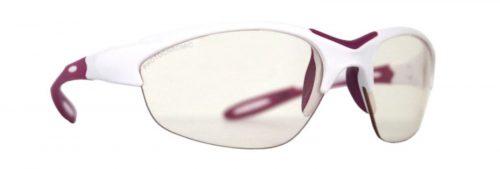 Womens photochromic glasses for running and trail running viper model white purple