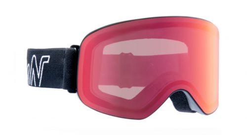 Ski and snowboard goggles photchromic mirrored lenses master model black red