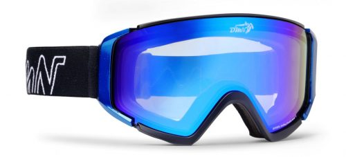 Snowboard goggles with photochromic mirrored lenses peak model matt black