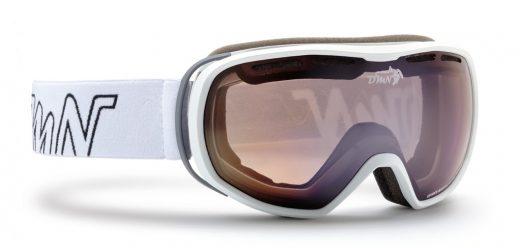 Women and teen ski goggles polarized lenses thunder model matt white