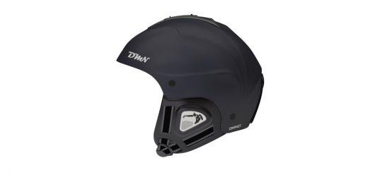 Ski and snowboard helmet soft ear pad matt black