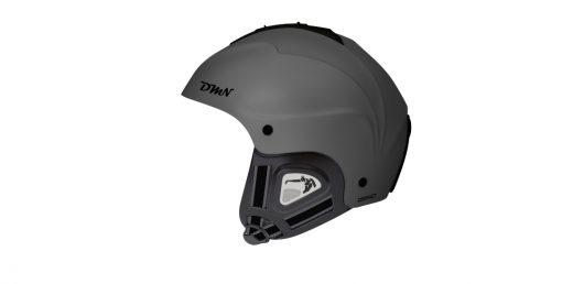 Ski and snowboard helmet soft ear pad matt grey