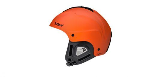 Ski and snowboard helmet soft ear pad matt orange