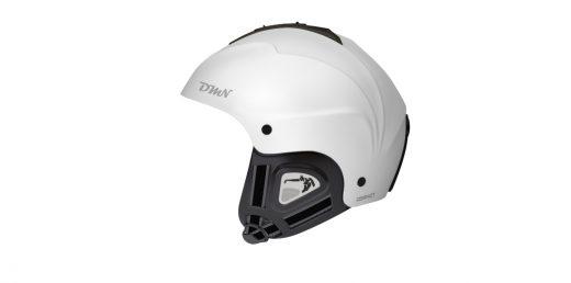 Ski and snowboard helmet soft ear pad matt white