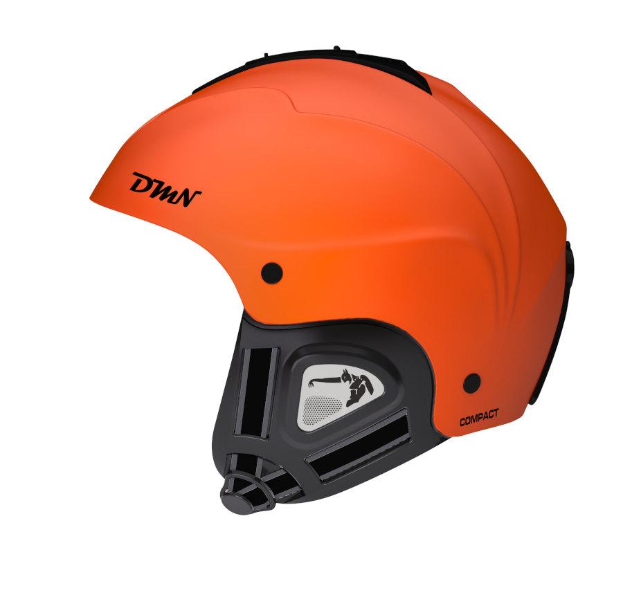 Snowboard helmet with soft ear pad matt orange