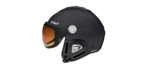 Visor ski helmet photochromic lens matt black