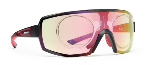 eyeglasses for cycling and running photochromic mirror lens dchrom performance rx model