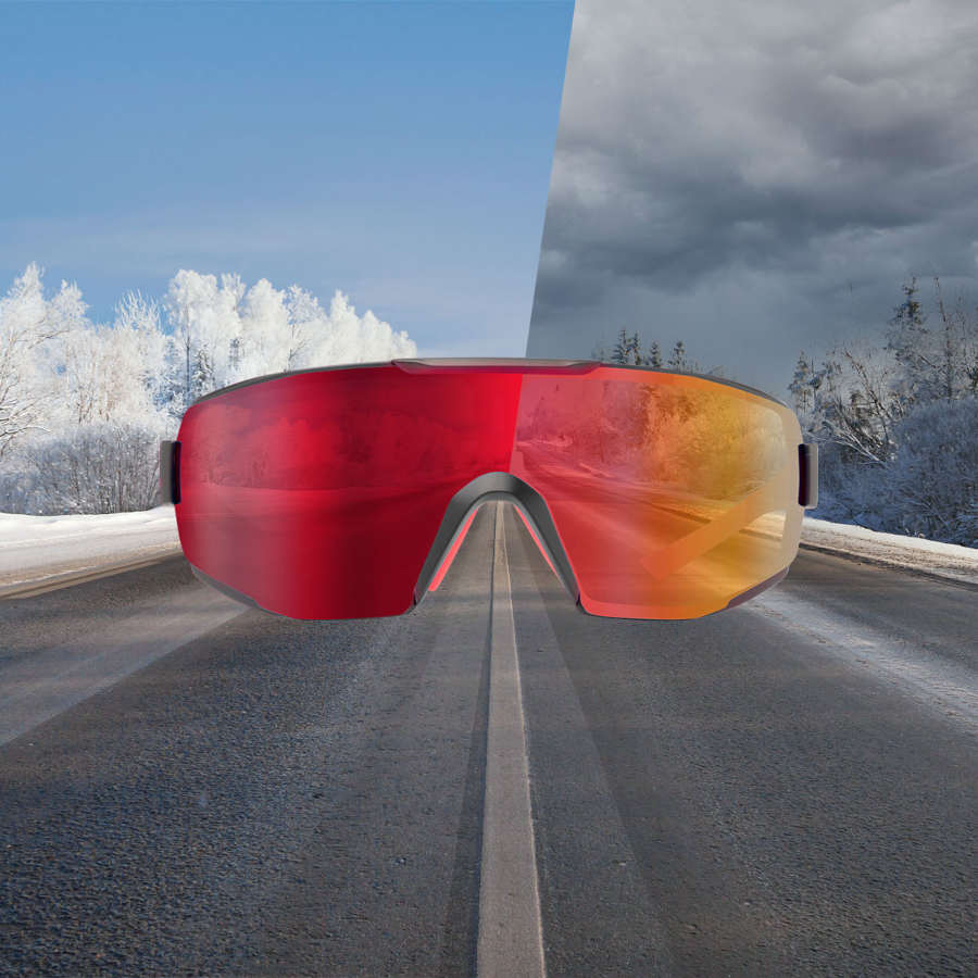 road running sunglasses photochromic mirrored lens performance model