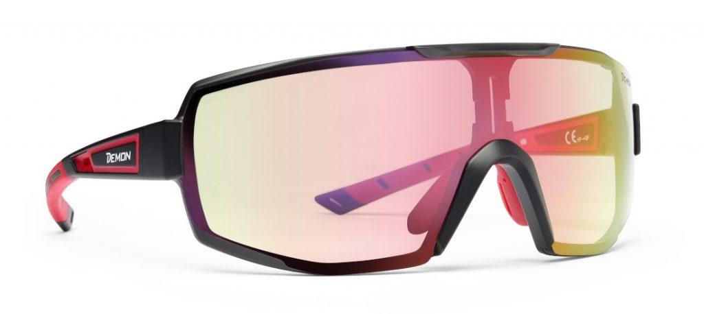 Running sunglasses photochromic mirrored lens for road running and trail running performance model