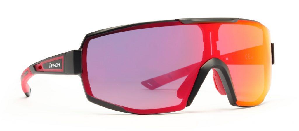 Trail running sunglasses photochromic mirrored lens for running performance model