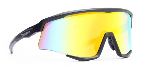 Sunglasses for road cycling and mountain bike single lens multilayer mirrored