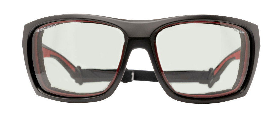 Alpinism photochromic sunglasses for high mountain eiger model matt black red