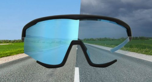 Dchrom photochromic mirrored sunglasses for running trail running triathlon model wallone