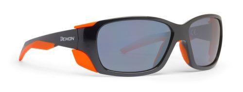 Hiking sunglasses mirror lenses trekking black orange