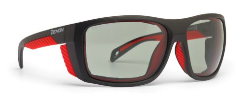 Mountain glasses photochromic lenses for alpinism eiger model black red
