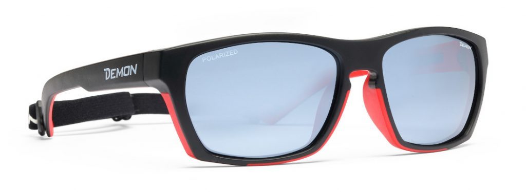 Hiking and trekking sunglasses polarized lenses special model black red