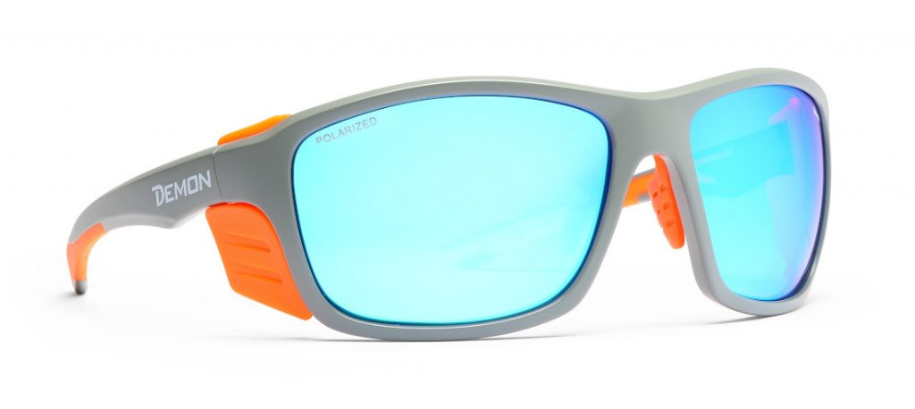 Hiking glasses with polarized lenses and removable side parts planet model