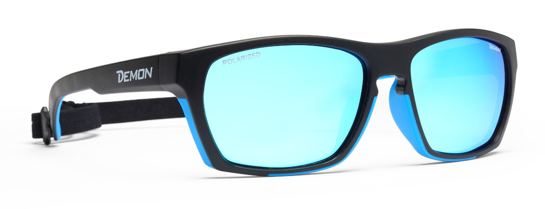 Outdoor sunglasses for hiking and trekking polarized lenses special model black blue