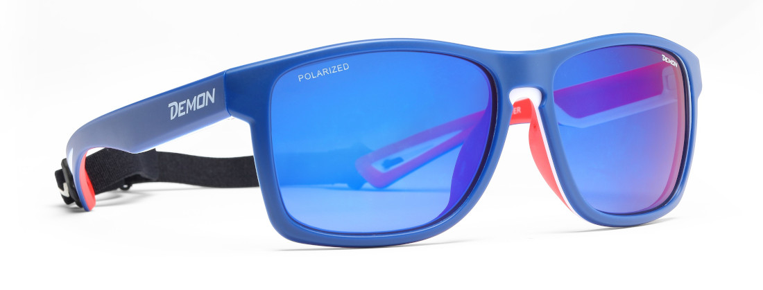 Polarized glasses for outdoor adventures layer model blue color