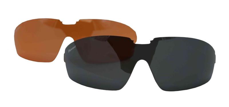 Interchangeable lenses for balistic glasses