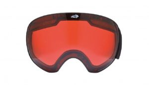 Orange lens for ski goggles for all weather condition