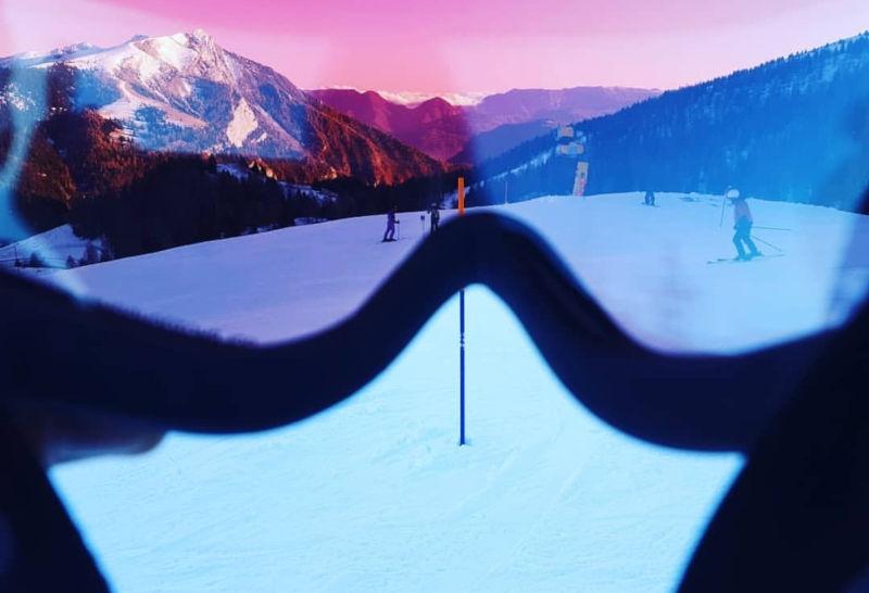Photochromic polarized ski goggles