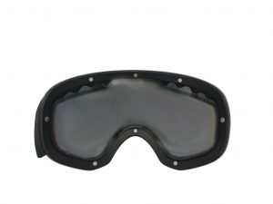 Ski goggles with magnetic lens