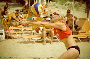 Sport sunglasses mirror lenses for beach volley
