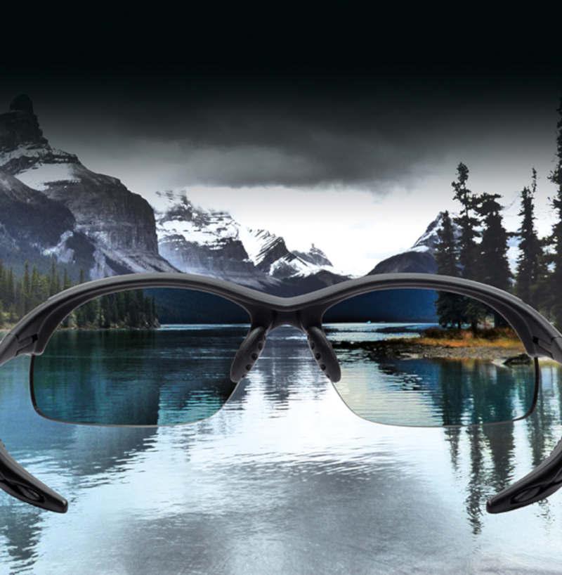 Sport sunglasses with polarized lenses