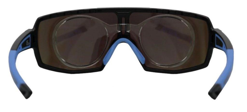 Prescription mountain bike glasses with optical clip