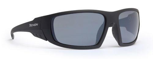 Hiking sunglasses smoke mirror lenses parrot model matt black